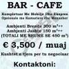 JEPET ME QERA BAR-CAFE E KOMPLETUAR ME MOBILJE DHE EKSPRES OPSIONALE ME KAMARIERE DHE MENAXHER